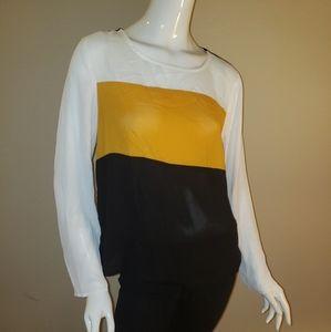 Shein shear classic colorblock mustard,white,black